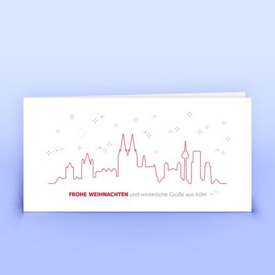 Köln Weihnachtskarten in rot