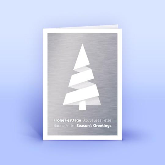 Weihnachtskarte mit modernem Metall-Design