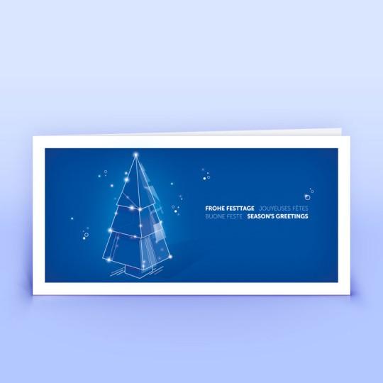 Weihnachtskarten blau