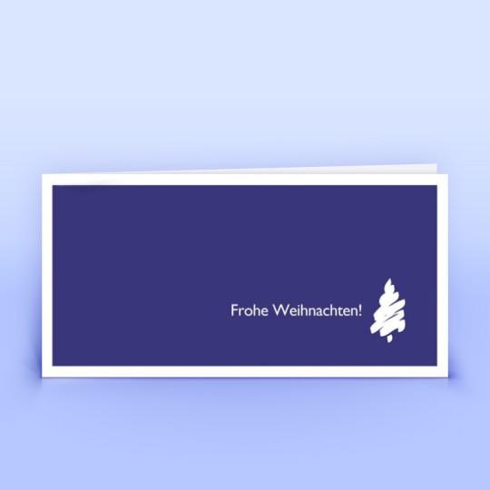 Weihnachtskarten lila mit stilisiertem Weihnachtsbaum