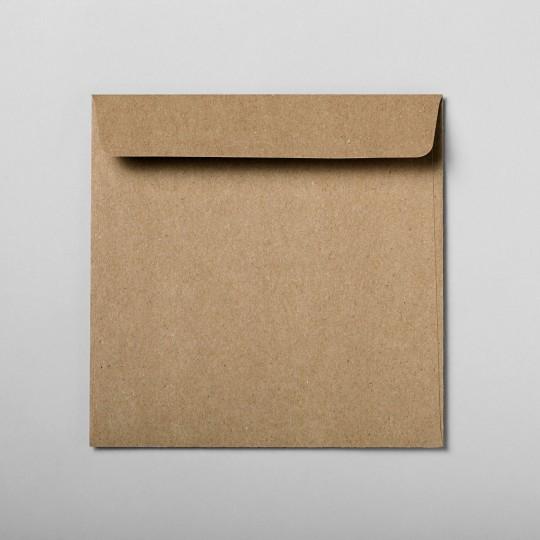 Briefumschlag braun quadratisch