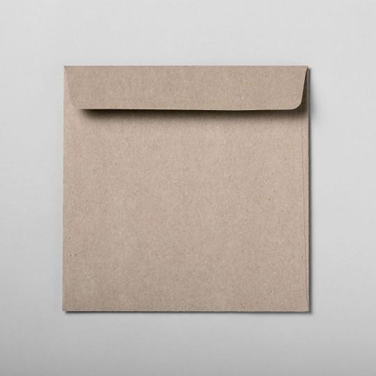 Briefumschlag grau quadratisch
