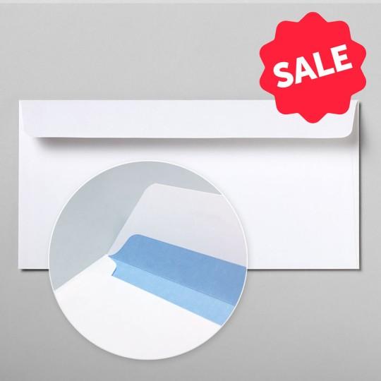 Briefumschlag hochweiß DIN lang mit blauem Innendruck