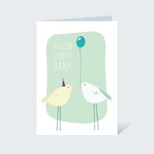 Dankeskarte Vögelchen