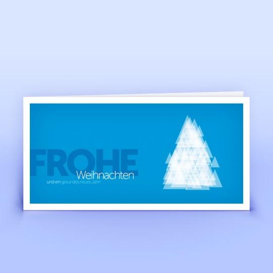 Weihnachtskarten moderne blaue Weihnachtsgrüße