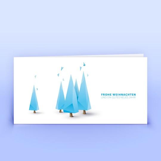 Weihnachtskarten moderne Weihnachtsbäumchen