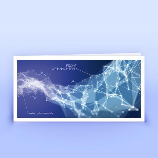 Weihnachtskarten moderne grafische Weihnachtsgrüße blau