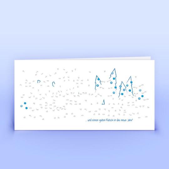 Weihnachtskarten Malen nach Zahlen Illustration