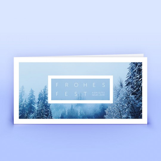 Weihnachtskarten verschneite Landschaft