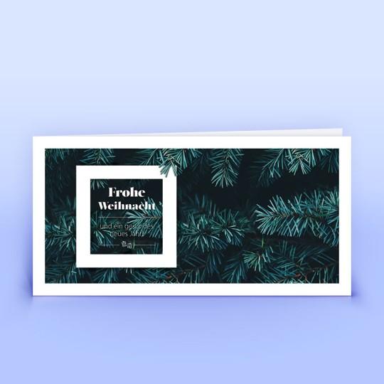 Weihnachtskarten tannengrüne Zweige