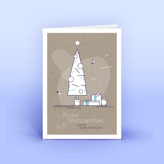 Weihnachtskarte moderner Weihnachtsbaum