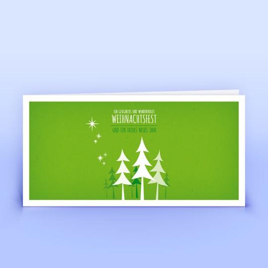 Weihnachtskarten grünes Wäldchen