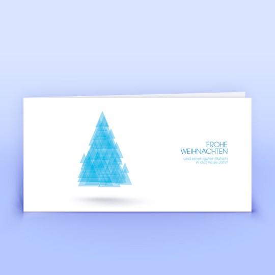 Weihnachtskarten schwebender Baum
