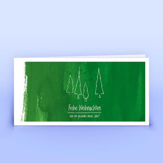 Weihnachtskarten grüne Weihnachtsgrüße