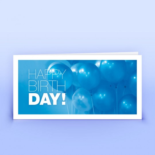 Geburtstagskarte Blaue Ballons