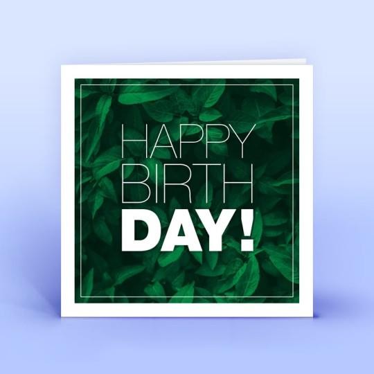 Geburtstagskarte grün quadratisch