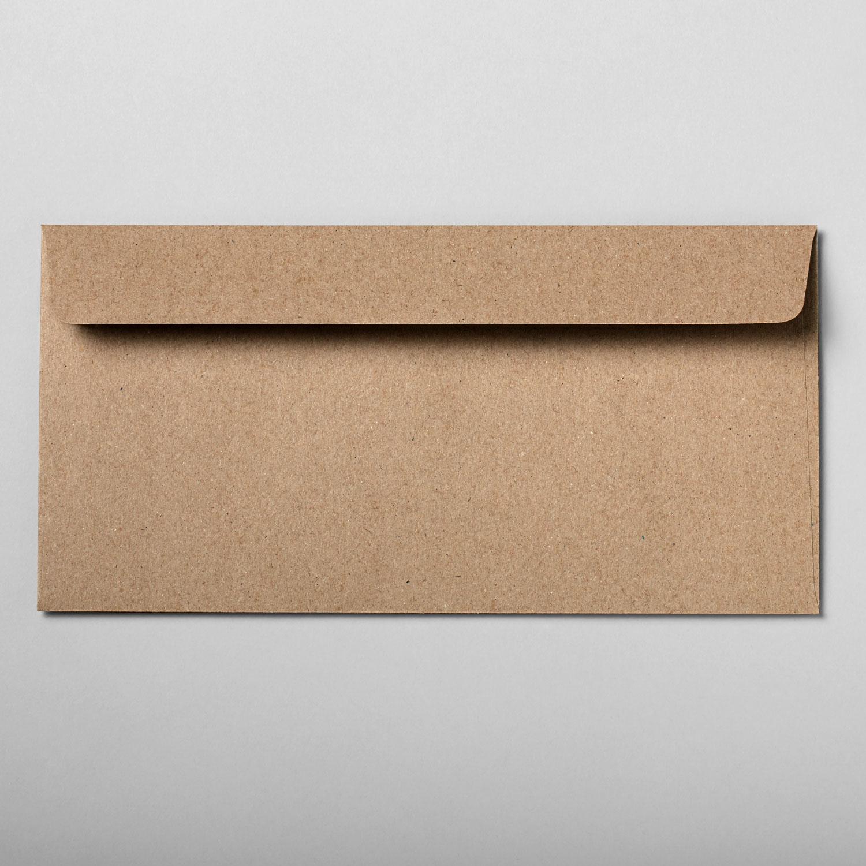 Umschlag DIN lang braun